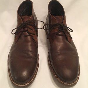 Men's Alfani leather ankle boots Sz 12 brown lace